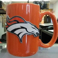 NFL Denver Broncos 15oz Ceramic Orange Coffee Mug with Team Logo