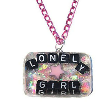 Pastel Lonely Girl Pendant Necklace
