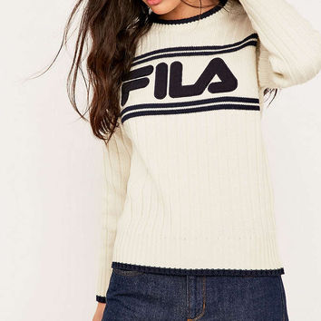 UO Exclusive Fila Lucy Logo Knit Jumper - Urban Outfitters