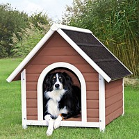 Medium 31.5-inch Outdoor Doghouse with Asphalt Shingles