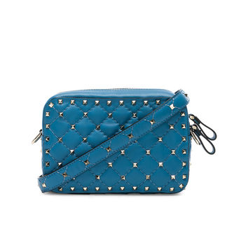 Valentino Rockstud Spike Crossbody Bag in Sky Blue | FWRD