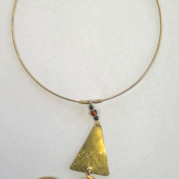 African Tribal Necklace - Brass