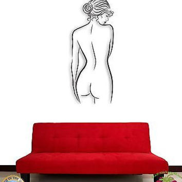 Wall Sticker Naked Girl Woman Female Modern Decor For Bedroom z1454