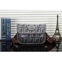 Fendi Fashionable Women Leather Chest Bag Shoulder Bag Handbag Crossbody Satchel Grey