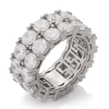 The .925 Sterling Silver Two-Row Ring