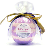Extra Large Bath Bomb Organic Lavender Essential Oil  Bath Fizzies 7 and 1/2 to 8 ounces each.