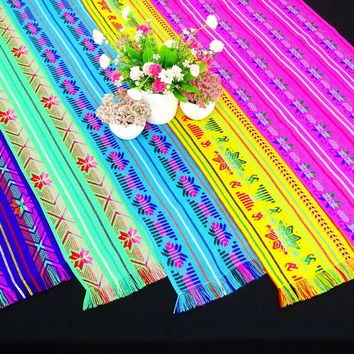 5 Pack, Cinco de Mayo table runners, Mexican Decor, Fiesta decorations, Mexican themed Party decorations.