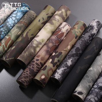TTGTACTICAL Tactical Self Adhesive Camouflage Tape Elastic Camouflage Cloth Tape 150x30cm Hunting Rifle Protective Camo Tape