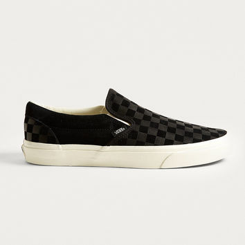 Vans Embossed Checkerboard Slip-On Trainers | Urban Outfitters