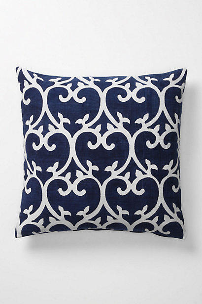 imphal blockprinted pillow from anthropologie dream house. Black Bedroom Furniture Sets. Home Design Ideas