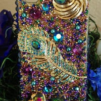 Stunning Peacock Bling iPhone 4/4s Case