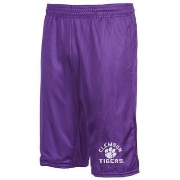 Clemson Tigers Basic Mesh Shorts – Purple