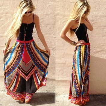 Print Dress Hot Sale Skirt [8096400519]
