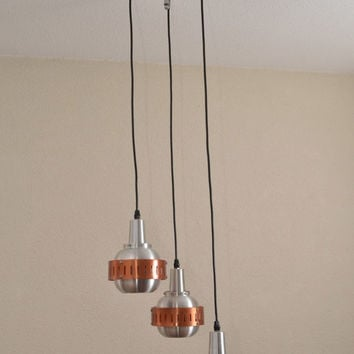 Midcentury pendant by Lakro Amstelveen Holland in the Danish style of Hammerborg, 1960s