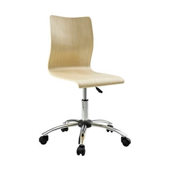 Natural Wooden Swivel Office Chair