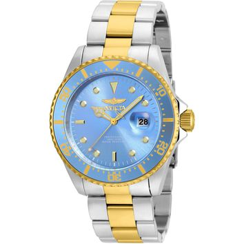 Invicta Men's 22060 Pro Diver Quartz 3 Hand Metallic Blue Dial Watch