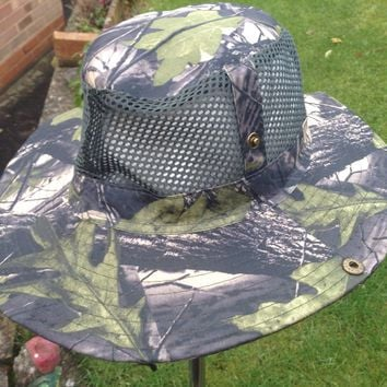 Men Women Camouflage Camo Bucket Hat Outdoor Camping Fisherman Cap