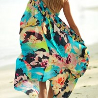 Seafolly Kabuki Bloom Patsy Kimono in Seychelles at Coco Bay - hand picked designer women's beachwear and beach accessories. Next Day Delivery & Free UK Returns