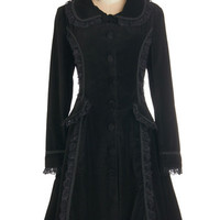 ModCloth Vintage Inspired, French Long Long Sleeve History of Haute Style Coat