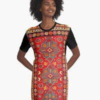 'Azerbaijan Pattern 5' Graphic T-Shirt Dress by planetterra
