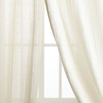 Pine Cone Hill Each 50W x 108L Hemstitch Stripe Curtain