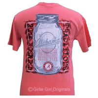 Alabama Crimson Tide Preserved Perfection Mason Jar Bright Girlie Girl T Shirt
