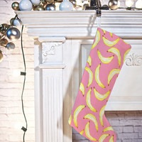 Lisa Argyropoulos Gone Bananas In Pink Stocking