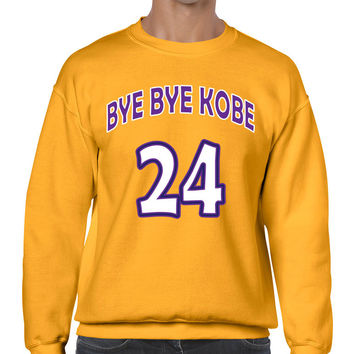 Bye Bye Kobe Bryant farewell from NBA sweatshirt men