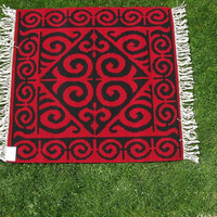 FREE SHIPPING new wool rug handmade model made by me. wool rug with two faces 105cm-112cm Tell everyone from BULGARIA