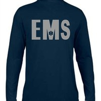 Mositure Wicking Reflective EMS Navy Long Sleeve