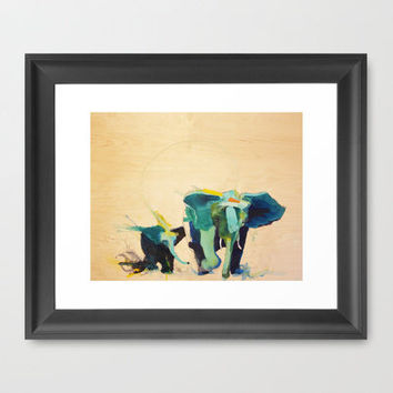 """Elephants"" Framed Art Print by James Penfield"