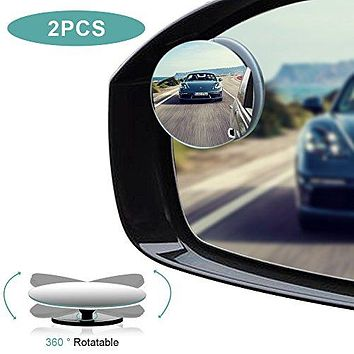 2 Pack: Convex Adjustable Blind Spot Mirrors