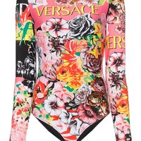 Iconic Multi Print Bodysuit by Versace