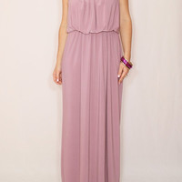 Light purple dress Long Bridesmaid dress Maxi dress