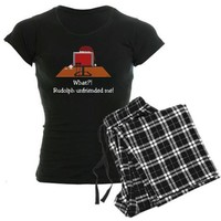 Rudolph Unfriended Me! Women's Dark Pajamas on CafePress.com