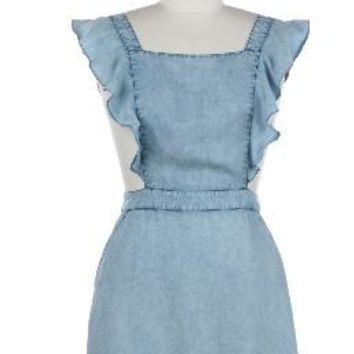 Light Denim Overall Dress