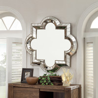 INSPIRE Q Olympia Morrocan Mirrored Frame Accent Wall Mirror