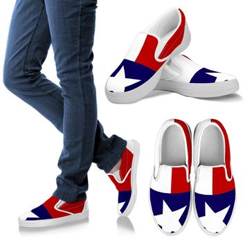 Texas Flag Vans Style Shoes