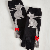 Quirky Ailurophile Style Gloves by ModCloth