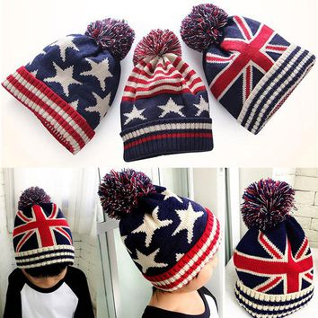 2017 Fashion And Comfortable New Toddler Kids Girl&Boy Baby  Winter Warm Crochet Knit Hat Beanie Cap#35