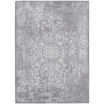 Safavieh Evoke Silver/ Ivory Rug (8' x 10') | Overstock.com Shopping - The Best Deals on 7x9 - 10x14 Rugs