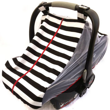 Fitted Cotton Car Seat Cover For Spring Summer