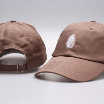 The New Last Kings Visor Unisex Outdoor Couple's Cotton Baseball Cap - Brown