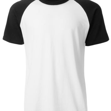 LE3NO Mens Casual Color Block Short Sleeve Raglan T Shirt