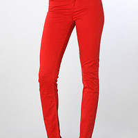 The Dawn Mid Rise Skinny Jean in Red