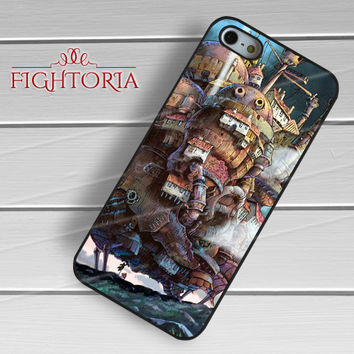 Howl's Moving Castle - z321z for iPhone 6S case, iPhone 5s case, iPhone 6 case, iPhone 4S, Samsung S6 Edge