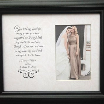 75a52960c5ad Mother of the Bride Parent Wedding Personalized Custom Gift You held my  Hand Frame