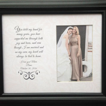 Mother of the Bride Parent Wedding Personalized Custom Gift You held my Hand Frame