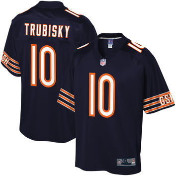 Men's Chicago Bears Mitch Trubisky NFL Pro Line Navy Big & Tall Player Jersey
