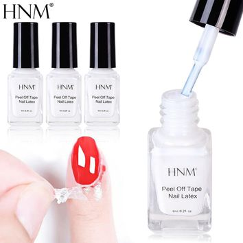 HNM 6ML Nail Latex White Pell Off Tape Paint Gellak Stamping Enamel Soak Off Semi Permanent Lucky Lacquer Protect Nails Polish